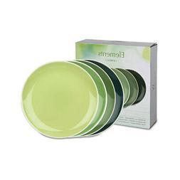 Waechtersbach - Set of 4 plates - Elements - Jungle - green