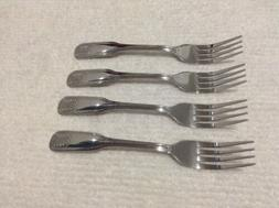 Set Of 4 Uniware Stainless Steel Dinnerware Forks New