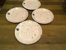 """Set of  Portmeirion """"Up the Garden Path"""" PINK 9"""" Plate"""