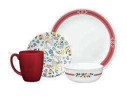Set Dinnerware 16 Piece Dishes Plate Mug Dinner Service Gard