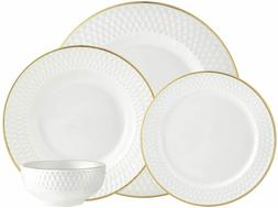 GODINGER Silver Art Avea Gold 16 piece Dinnerware Set - Serv