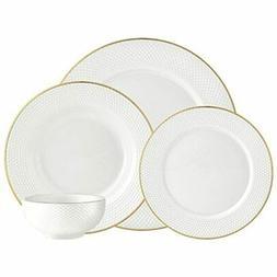 Silver Art Pique Gold 16pc Set Dinnerware Sets
