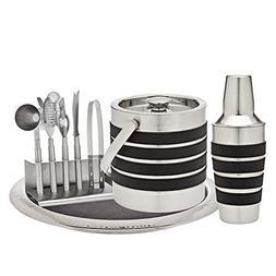 Godinger Silver Art Modern Stripe 7-piece Leather Stainless