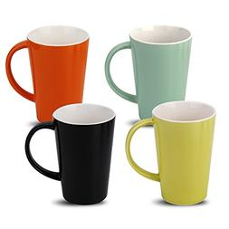 Fashion Simple Style Ceramic Mug 14 OZ Set of 4