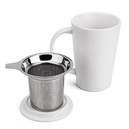 Fashion Simple Style Tea Mug with Infuser and Lid 14 OZ