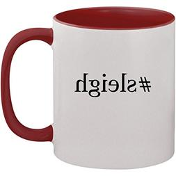 #sleigh - 11oz Ceramic Colored Inside and Handle Coffee Mug