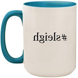 #sleigh - 15oz Ceramic Colored Inside and Handle Coffee Mug