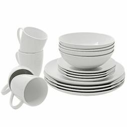 SM-1600-CP-W 10 Strawberry Street Coupe Dinnerware Set, Whit