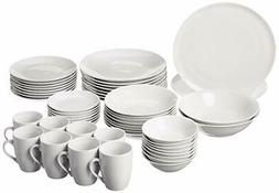 10 Strawberry Street SM-5200-CP-W 52 Pc Coupe Dinnerware Set