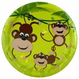 Small Monkeys Party Plates Set