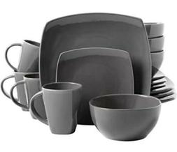 Soho Lounge 16-Piece Reactive Glaze Dinnerware Set,Cook,Bake