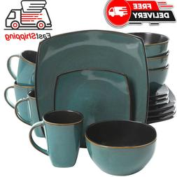 Gibson Elite 102534.16RM Soho Lounge 16 Piece Reactive Glaze