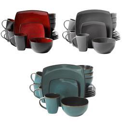 Soho Lounge Square Stoneware 16-piece Dinnerware Set Multipl