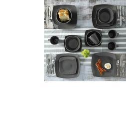 Soho Lounge Square Stoneware 16 piece Dinnerware Set Plates