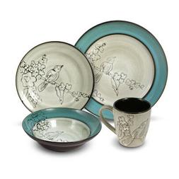 Gourmet Basics Song Bird 32 Piece Dinnerware Set, Service fo