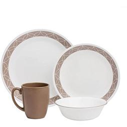 Corelle 16 Piece Sophisticated Design Livingware Dinnerware