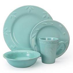 Sorrento 16 Piece Dinnerware Set in Aqua by Signature Housew