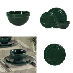 Mainstays Speckled 12-Piece Round Stoneware Dinnerware Set,