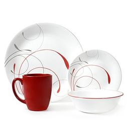 Corelle 16 Piece Splendor Coupe Livingware Dinnerware Set, R