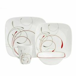Corelle Square 16-Piece Dinnerware Set, Splendor ----Sale---