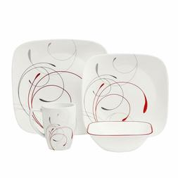 Corelle Square 16 Piece Dinnerware Sets Splendor Service for