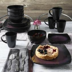 square dinnerware set dinner plates