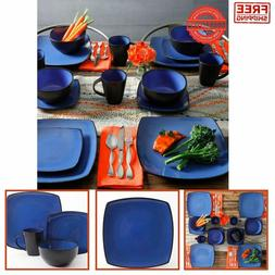 Square Dinnerware Set Dinner Plates Mugs Dishes Bowls Home K
