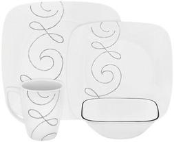 Corelle® Square™ 16pc Dinnerware Set Endless Threa