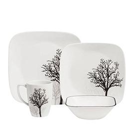 Corelle Square Elegantly Modern Pattern 16-Piece Dinnerware