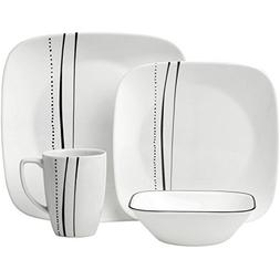 Corelle Square Uncomplicated Modern Style 16-Piece Dinnerwar