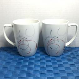 """Corelle Coordinates Squared Splendor 4 3/8"""" Porcelain Cups M"""