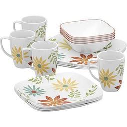 squares happy days dinnerware set