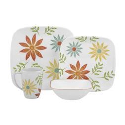 Corelle Squares Happy Days 16-Piece Dinnerware Set