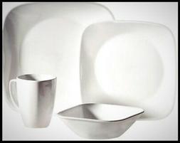 Corelle Squares Pure White 32-Piece Dinnerware Set