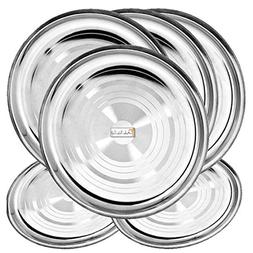 Prisha India Craft Stainless Steel Dinner Plates Thali, Dinn