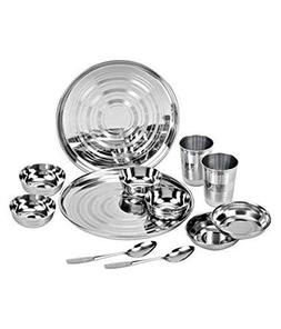 ROYAL SAPPHIRE Stainless Steel Dinnerware Set 12 Pieces  Sil