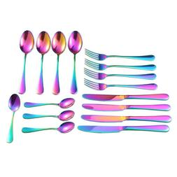 Stainless Steel Flatware <font><b>Set</b></font>,1Set/16PCS