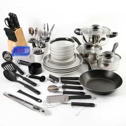 25-Piece Essential Stainless Steel Mega Cookware Set Pots An