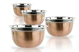 4 Pcs Stainless Steel Mixing Bowls Set - Set of 4 German Mix