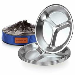 Stainless Steel Plate Set - 10.25 inch Ultra-Portable Dinner