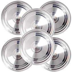 Prisha India Craft Stainless Steel Round Dinner Plates Thali