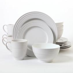 Gibson Stanza 16 Piece Dinnerware Set White