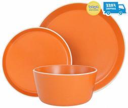 Melange Stoneware 18-Piece Dinnerware Set  | Service for 6|.