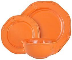 Melange Stoneware 18-Piece Dinnerware Set    Service for 6 