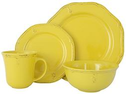 Melange Stoneware 16-Piece Dinnerware Set  | Service for 4|