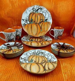 Inhomestylez~Stoneware~Pumpkin~THANKSGIVING~HALLOWEEN~Dinner