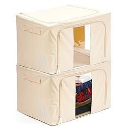 EZOWare 2 Pack Storage Bins Boxes Foldable Container Organiz