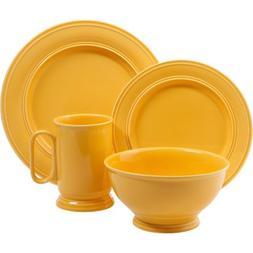 Gibson Studio Admiraware 16-Piece Dinnerware Set, Butter