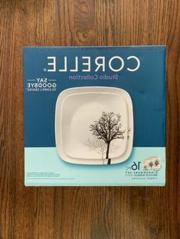 Corelle Studio Collection dinnerware set 16pc Timber Shadows