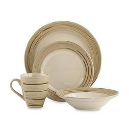 Dansk Studio Schema Sand Earthenware 16-Piece Dinnerware Set